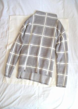 Бзовый свитер в клетку marks & spencer