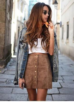 Супер модная юбка с завышенной талией!!!