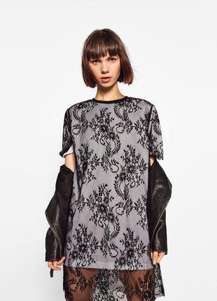Новое кружевное платье zara
