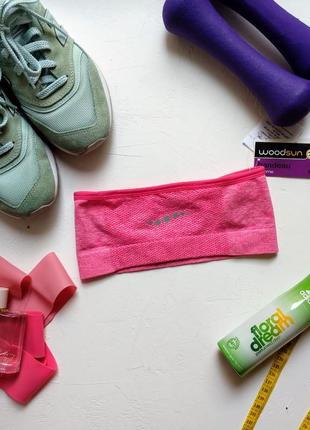 Повязка спортивная розовая