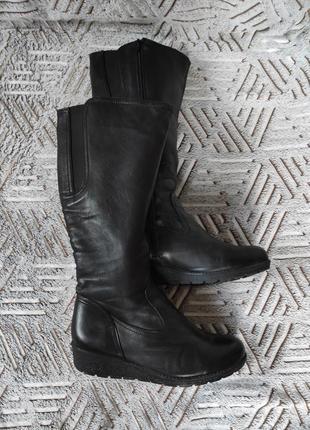 Высокие зимние кожаные сапоги, германия