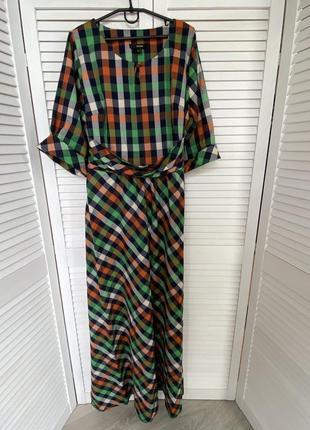 Платье макси в пол разноцветное piena
