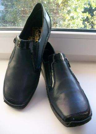 Туфли женские натуральная кожа rieker  р.40