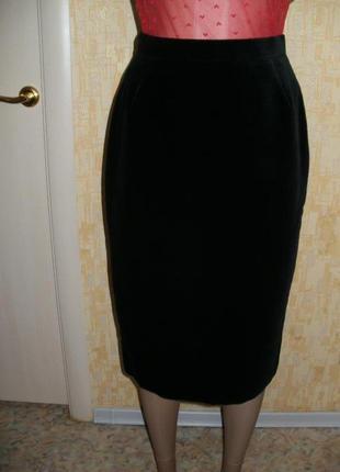 Англия!шикарная бархатная юбка-карандаш  платье юбка юбка