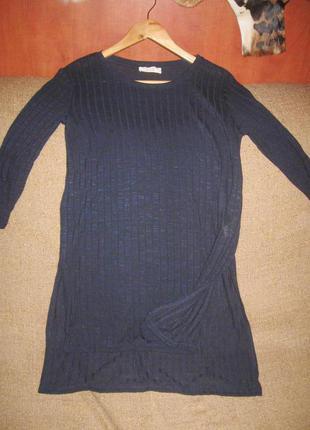 Туника-платье синее