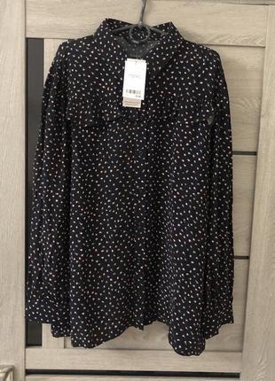 Вискозная рубашка большого размера батал блуза