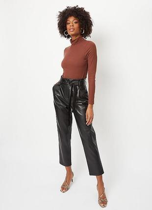 Нереально крутые трендовые кожзам штаны, слоучи - 16 р-р