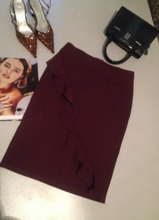 Красивая трикотажная юбка.0124 marks & spencer