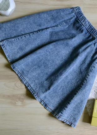 Юбка крой сонце кльош джинсова denim co