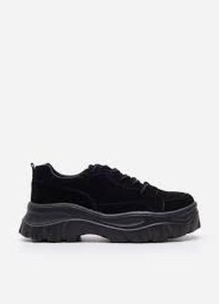 Крутые осенние туфли, кроссы на массивной подошве - 40 - советую на 39