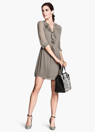 Шифоновое платье h&m 14 р-р