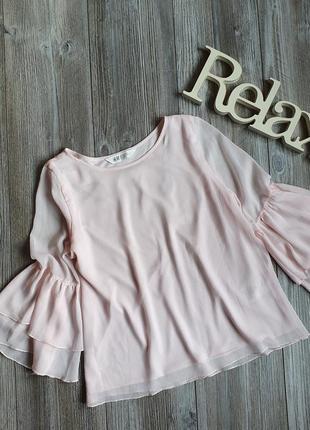 Блуза с руками клеш h&m 13-14л