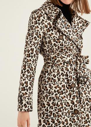 Стильный леопардовый тренч new look uk 14  eur 42 на 46-48 р