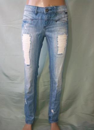 Классные фирменные рваные джинсы only/большой выбор брендовой одежды разных размеров /