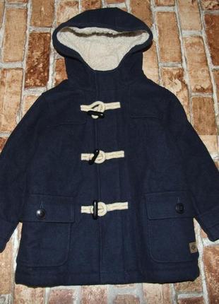 Стильное пальто парка мальчику 1 - 2 года next