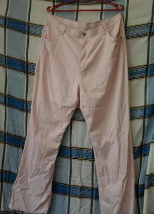 Тонкие нежно-розовые джинсы,стрейч.
