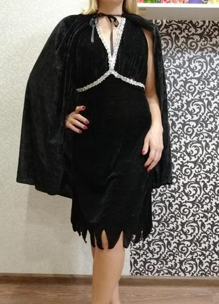 Карнавальный костюм платье хэллоуин бурлеск