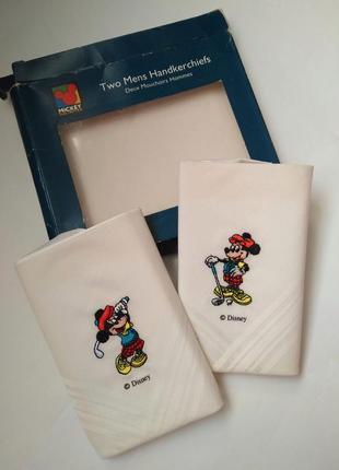 Платки носовые коллекционные винтаж гольф disney микки маус