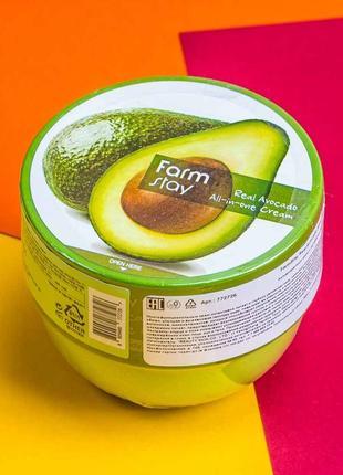 Крем для лица и тела с авокадо farmstay real avocado all-in-one cream - 300 мл