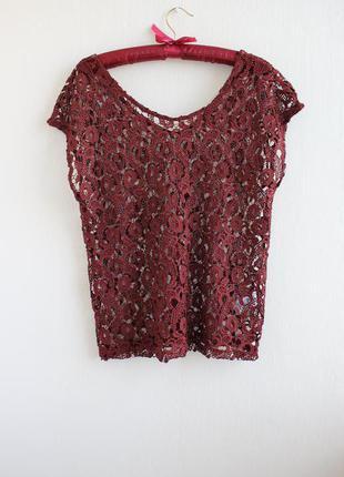 Шикарная кружевная блуза next
