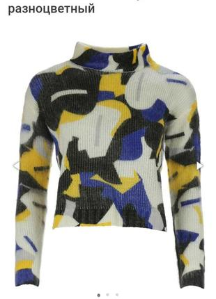 Теплый мягкий брендовый свитер короткий под мом джинсы tiffosi xs-s