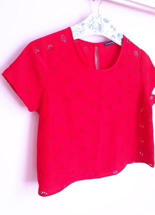 Красная укороченная блуза