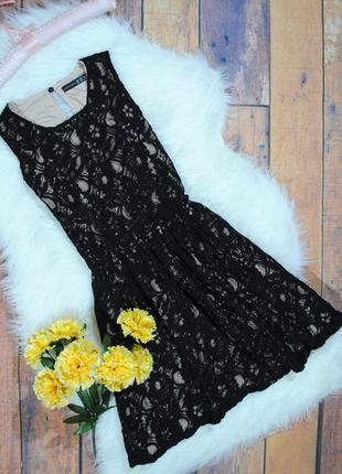 Красивенное кружевное платье atmosphere размер uk10 (s) черное