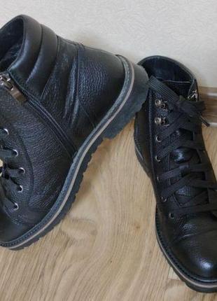 Кожаные ботинки мida (деми)