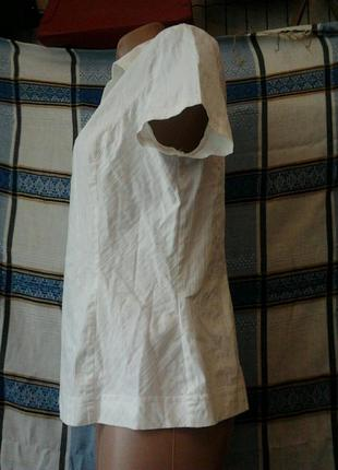 Блузка белая стрейч