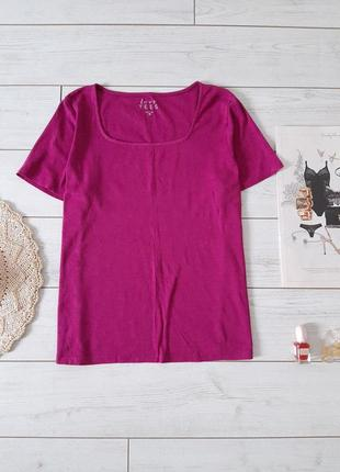 Комфортная коттоновая футболка в изумительном цвете