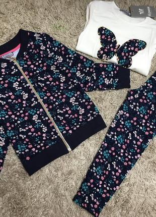 Спортивний костюм , комплект трійка на дівчинку 5-6