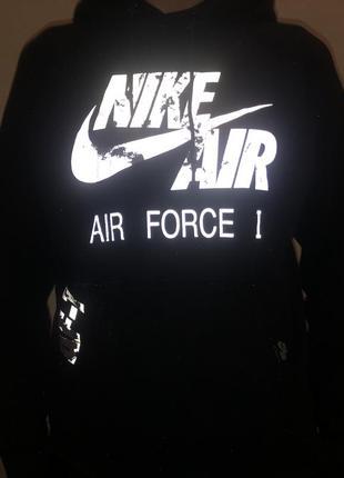 Худи nike air force 1, рефлектив | оригинал