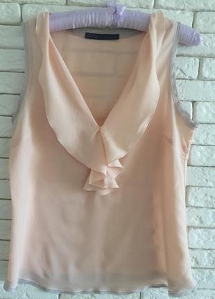 Пудровая блуза zara