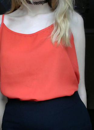 Красная блуза в бельевом стиле от new look