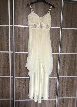 Свадебное платье в цвете айвори