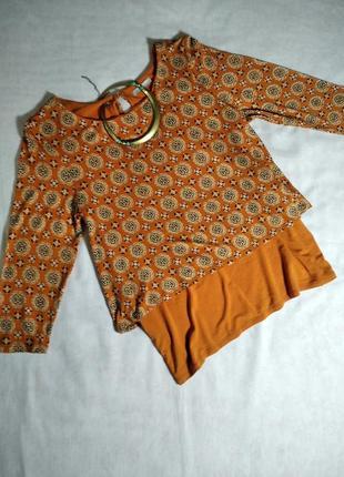 Яркая двухслойная трикотажная блузка tu