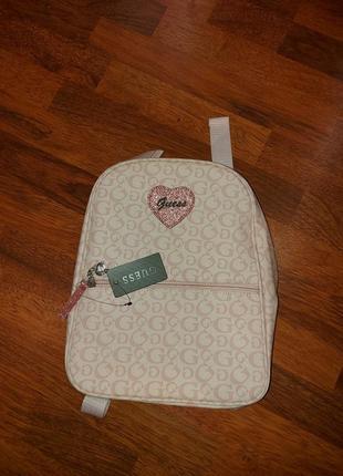 Розовый рюкзак guess