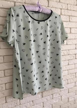Вискозная бирюзовая блузочка marks&spenser