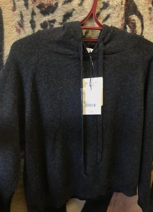 Кашемировый пуловер-худи allude цум