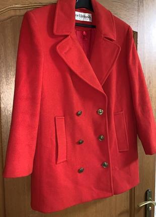 Шерстяной пиджак жакет 100% шерсть красного цвета ❤️