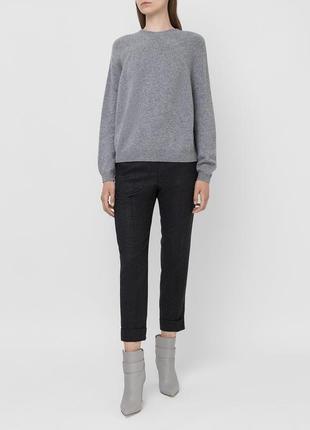 Серый кашемировый свитер-джемпер cashmere из 100% кашемира хл 52-54