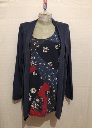 Стильная блуза обманка / кардиган / marks&spencer