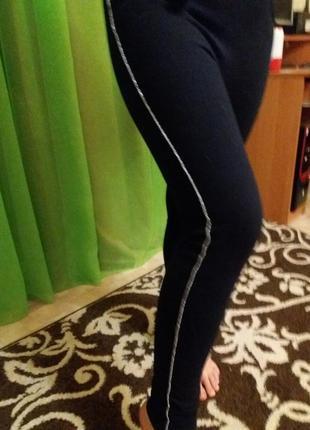 Теплые штаны-лосины с начесом