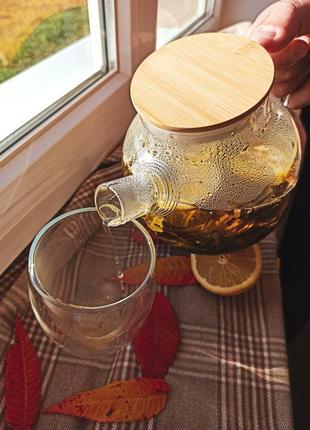 Чайник із термостійкого скла💛