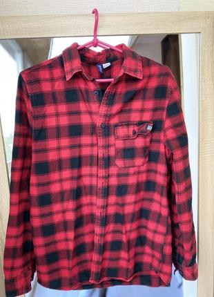 Рубашка в клетку h&m6 фото