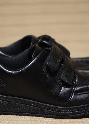 Комфортные черные кожаные полуботинки clarks англия 25 1/2 р.