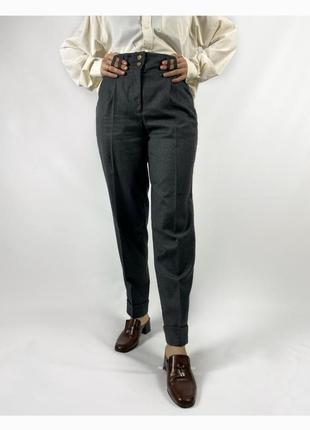 Шенстяные брюки с высокой посадкой