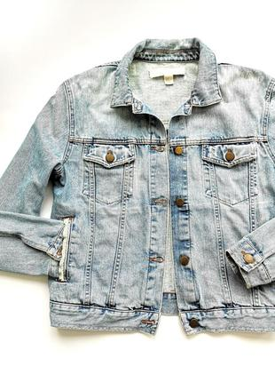 Голубая джинсовая оверсайз куртка dkny сделано в италии