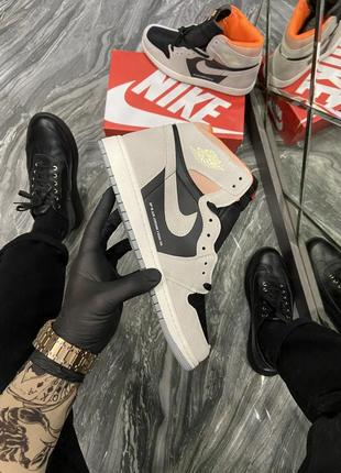 Мужские кроссовки nike air jordan 1 sp 19 grey black