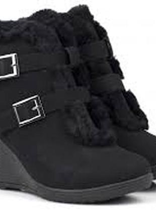 """Тёплые ботинки """"plato"""" на танкетке: размер 38 и 39"""